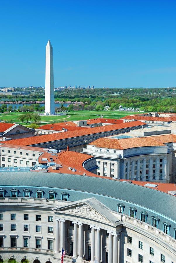 Opinião aérea do Washington DC fotos de stock royalty free