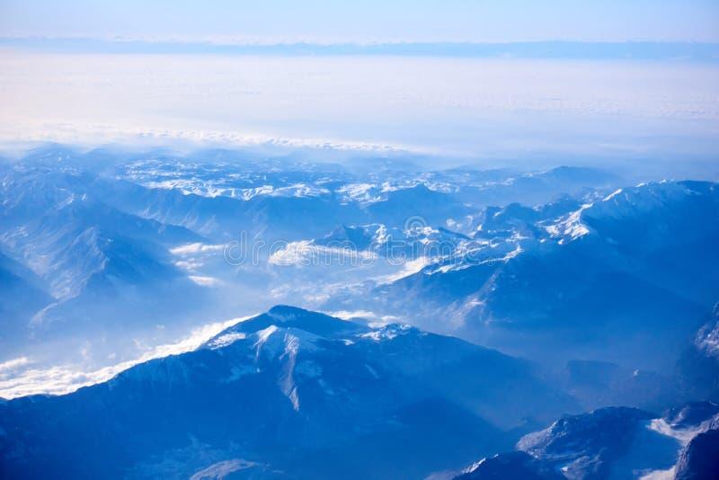 Opinião aérea dos cumes, EUROPA imagens de stock royalty free