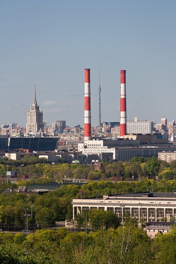 Opinião aérea o capital de Moscou, Rússia fotografia de stock royalty free