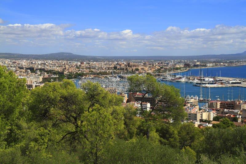 Opinião aérea Palma de Mallorca em Majorca, Balearic Island, Espanha fotos de stock royalty free