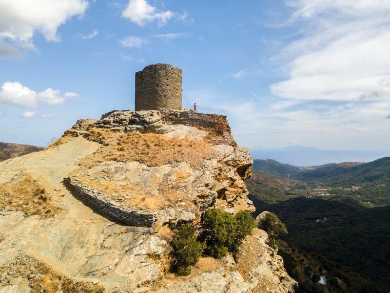 Opinião aérea Seneca Tower, Córsega, França imagens de stock royalty free