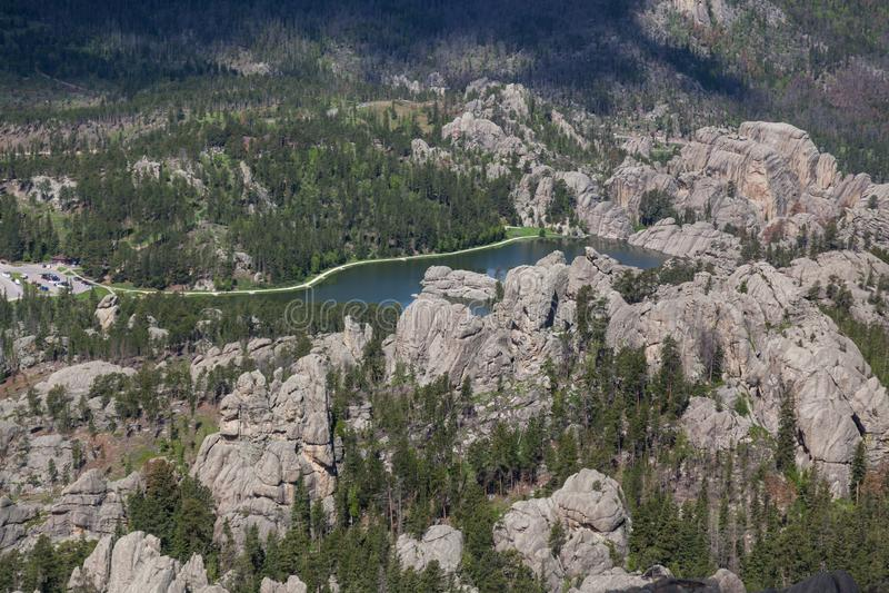Opinião aérea Sylvan Lake, SD imagem de stock royalty free