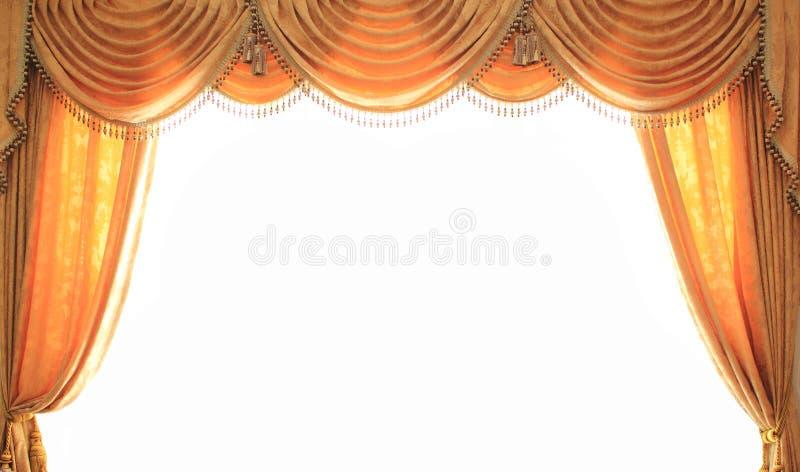 Opinião aberta da cortina imagem de stock royalty free