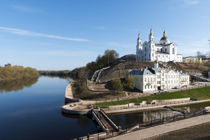 Opinião agradável da paisagem da mola de Belarus Vitebsk fotos de stock royalty free
