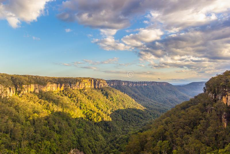 Opinião agradável da paisagem do vale do canguru, Austrália foto de stock