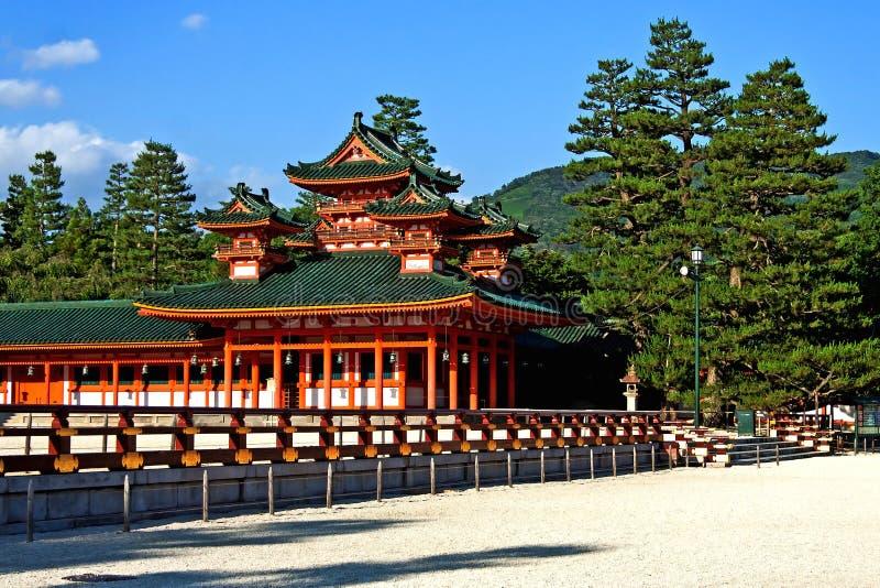 Opinião maravilhosa do palácio de Heian em Kyoto, Japão foto de stock