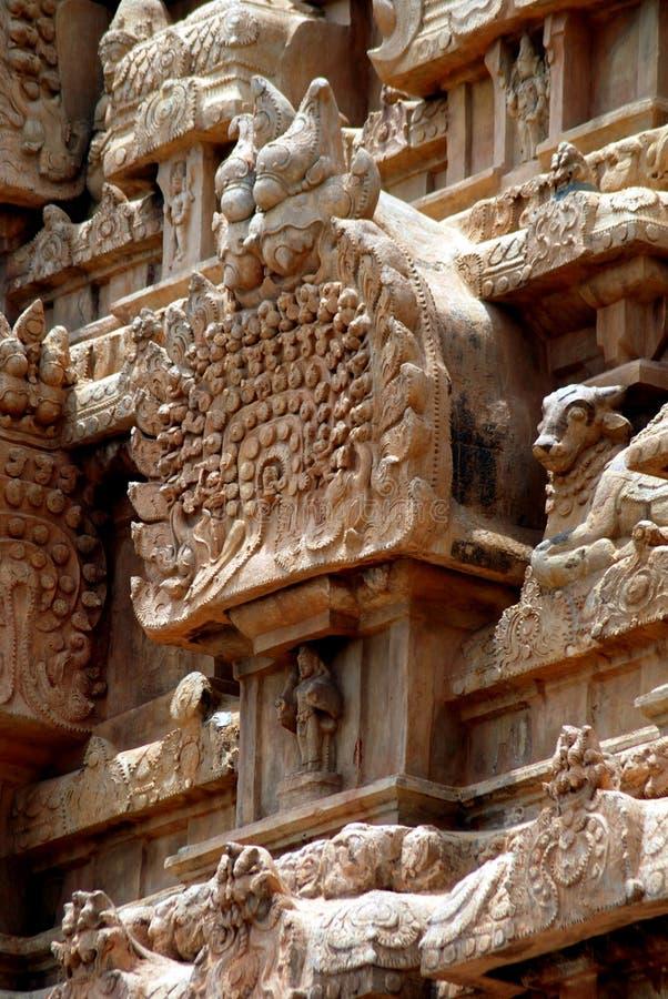 Opinião antiga do fim do templo imagem de stock royalty free