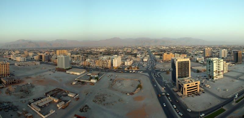 Opinião arial de United Arab Emirates Ras Al Khaimah imagem de stock