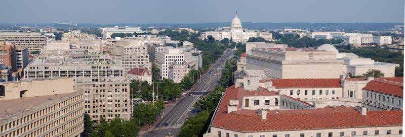 Opinião bird's-eye do Washington DC, panorama foto de stock royalty free