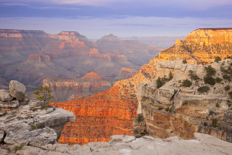 Opinião bonita da paisagem da garganta grande fotos de stock royalty free