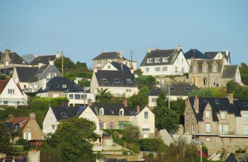 Opinião bonita da vila francesa foto de stock
