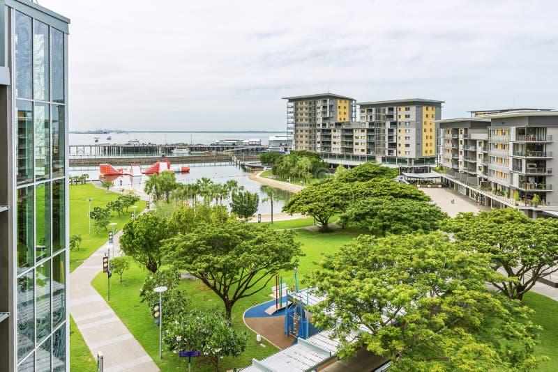 Opini?o bonita Darwin Waterfront, Austr?lia do dia, em um momento da tranquilidade fotos de stock royalty free