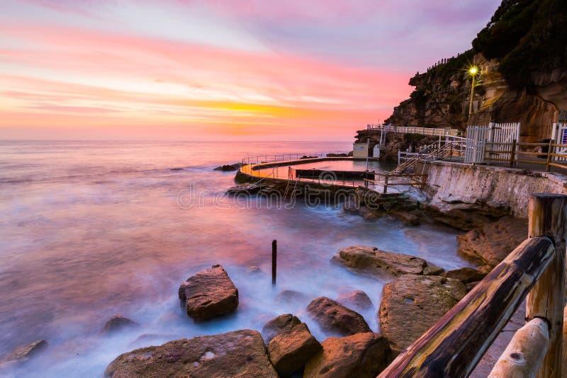 Opinião bonita do seascape do nascer do sol fotos de stock