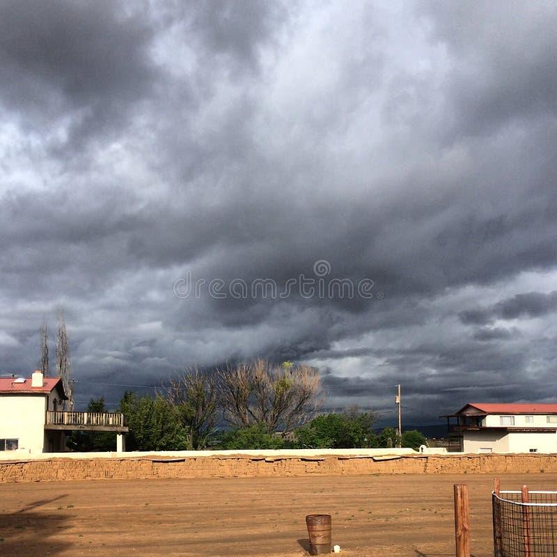 Opinião bonita dos céus de Santa Fé fotografia de stock royalty free
