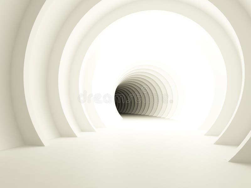 Opinião brilhada do túnel ilustração stock