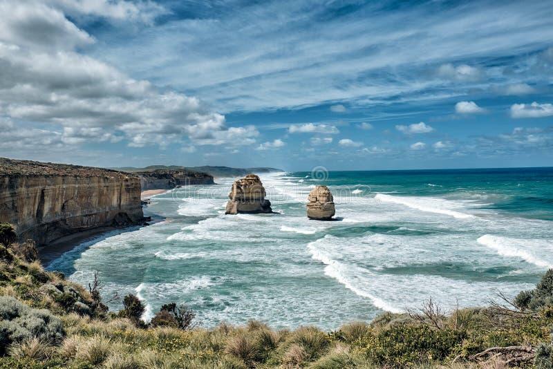 Opinião cênico de 12 apóstolos, Austrália, Victoria fotos de stock royalty free