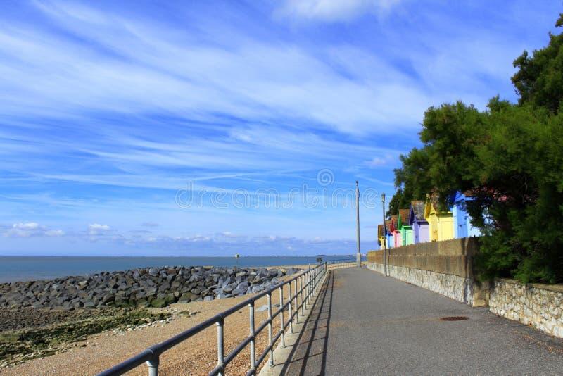 Opinião cênico Kent Reino Unido da praia de Folkestone imagem de stock royalty free