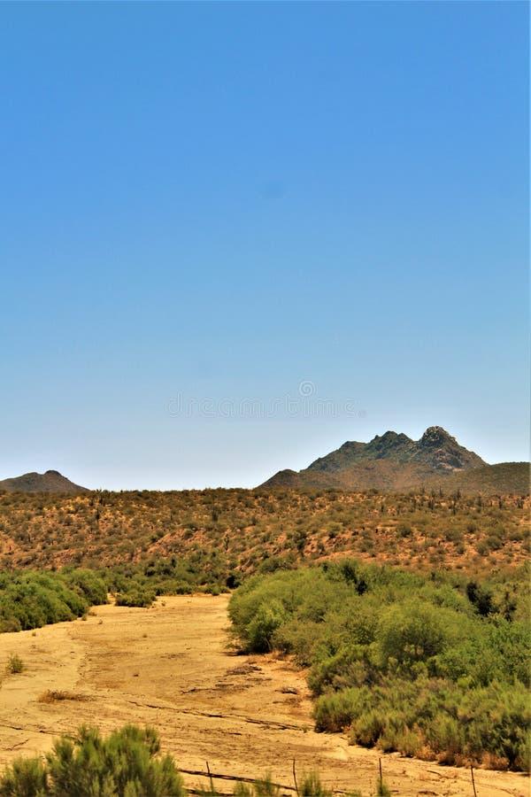 Opinião cênico Phoenix da paisagem a Las Vegas, o Arizona, Estados Unidos imagens de stock