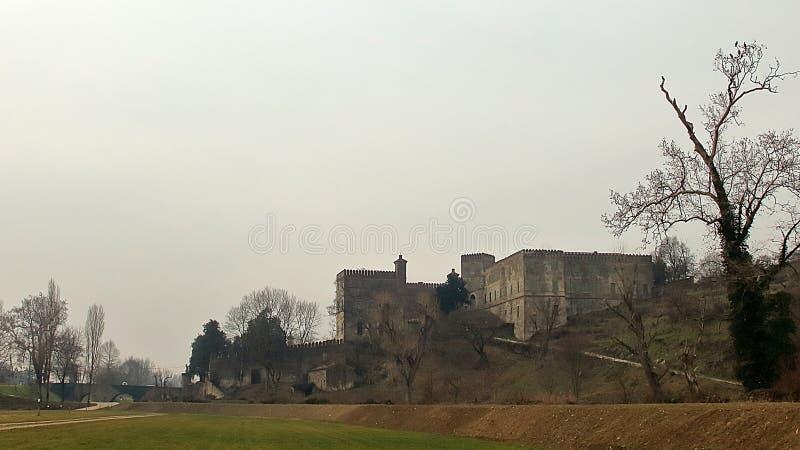Opinião Castello del Catajo Cataio, Pádua foto de stock