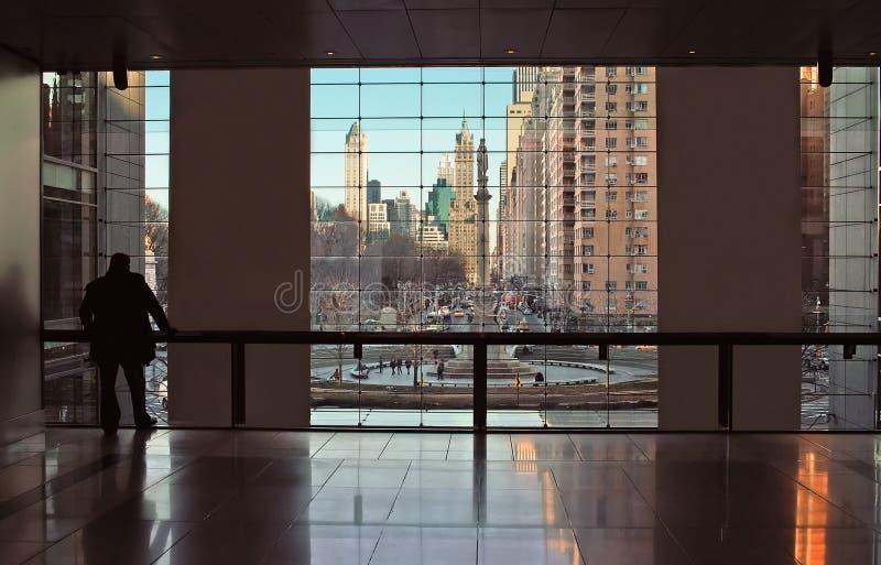 Opinião Center de Time Warner New York City fotos de stock royalty free