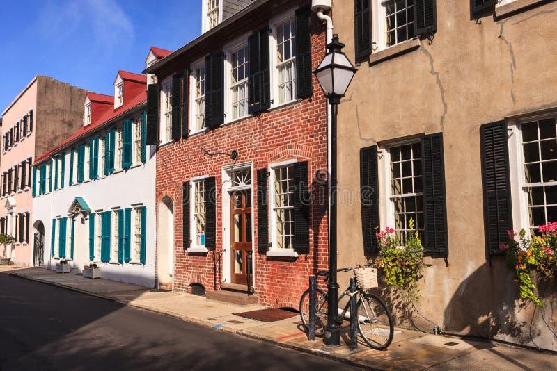 Opinião Charleston South Carolina da rua fotografia de stock