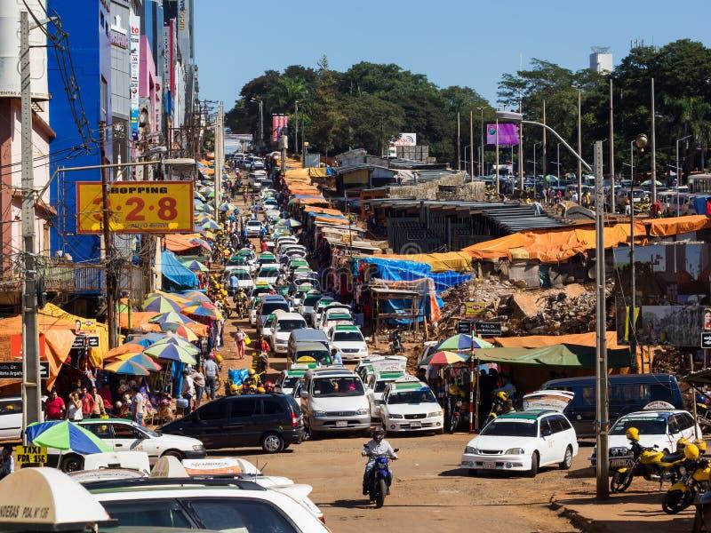 Opinião Ciudad Del Este, Paraguai imagens de stock royalty free