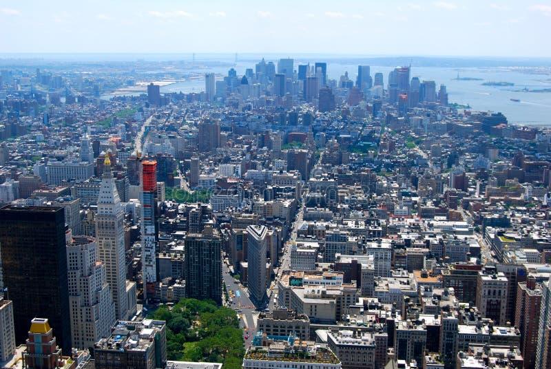 Opinião com arranha-céus, New York City do Midtown de New York City Manhattan fotografia de stock
