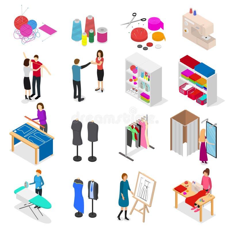 Opinião 3d isométrica ajustada do conceito do estúdio da oficina Vetor ilustração royalty free