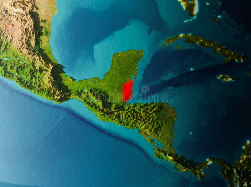Opinião da órbita de Belize fotos de stock