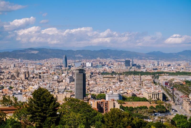 Opinião da arquitetura da cidade de Barcelona, Espanha fotografia de stock royalty free