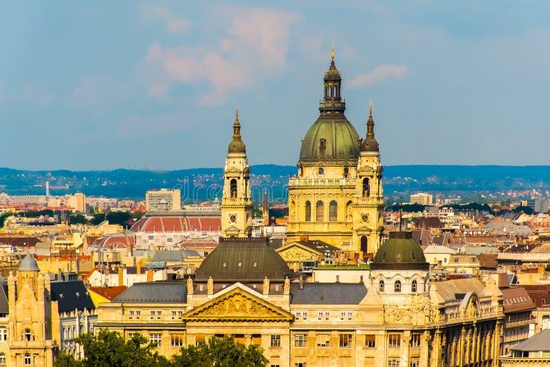 Opinião da arquitetura da cidade de Budapest, Hungary& x27; capital de s, Europa imagem de stock