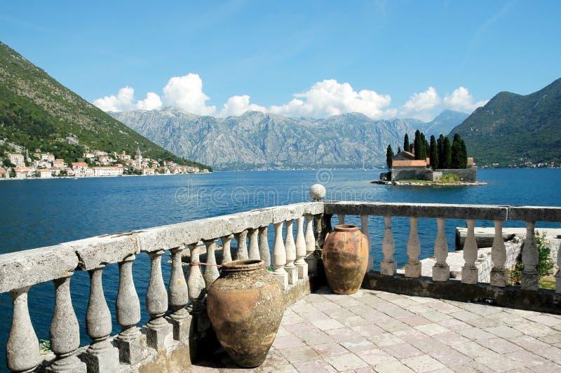 Opinião da baía de Kotor. foto de stock royalty free
