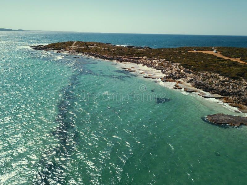 Opinião da baía de Mavic pro imagens de stock