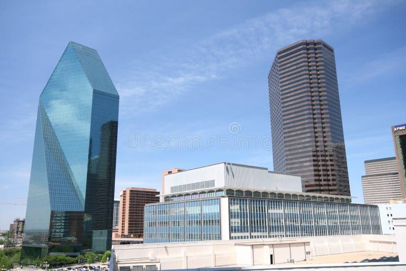 Opinião da baixa norte de Dallas fotos de stock