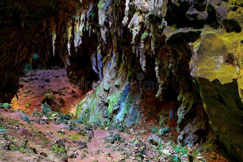 Opinião da câmara dois da caverna do callao, Filipinas cagayan fotografia de stock royalty free