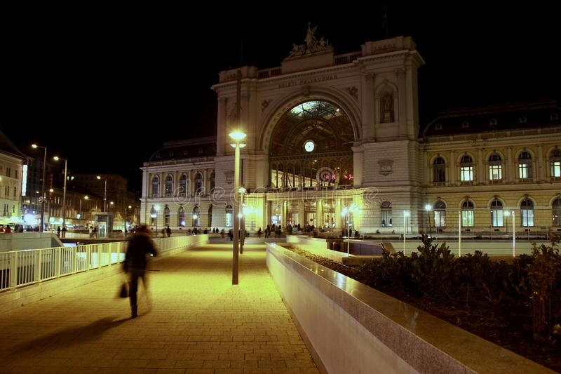 Opinião da cidade da noite imagens de stock