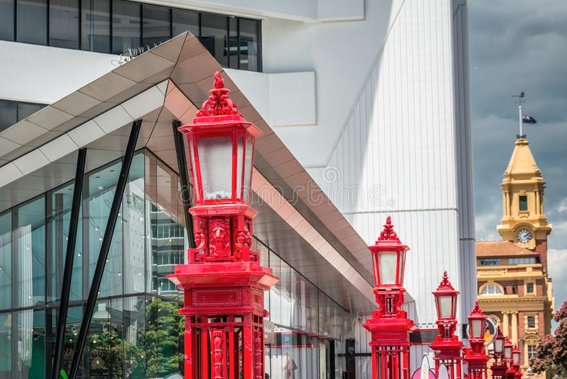 Opinião da cidade de Auckland imagens de stock