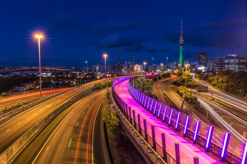 Opinião da cidade de Auckland fotografia de stock