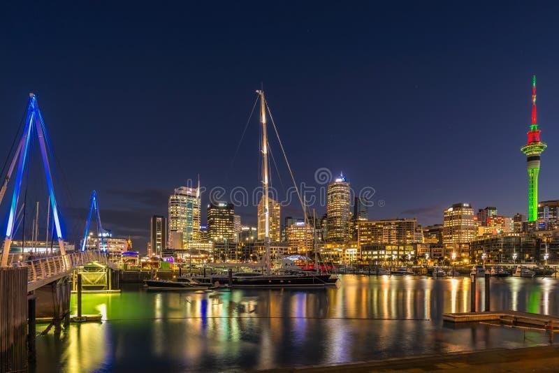 Opinião da cidade de Auckland fotografia de stock royalty free