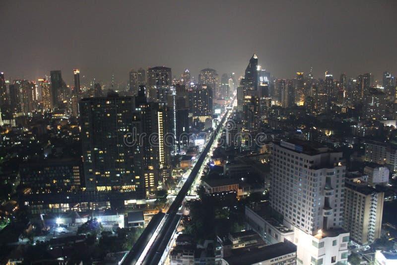 Opinião da cidade de Banguecoque da parte superior foto de stock