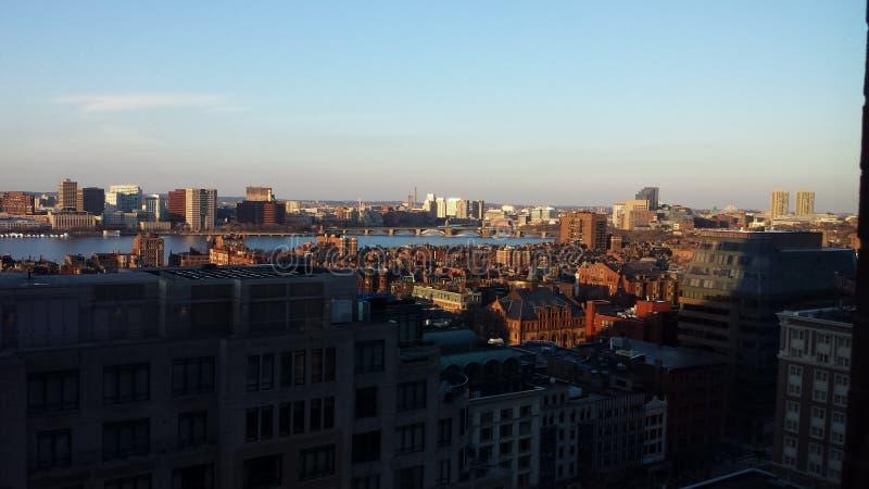 Opinião da cidade de Boston foto de stock royalty free