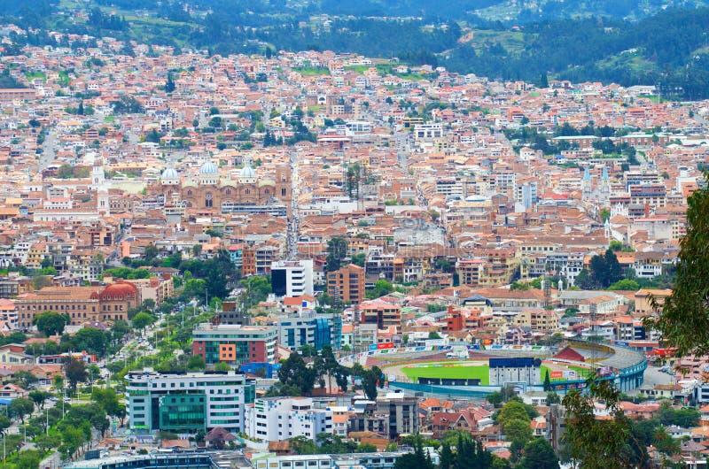 Opinião da cidade de Cuenca imagem de stock royalty free