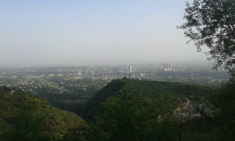 Opinião da cidade de Islamabad fotos de stock