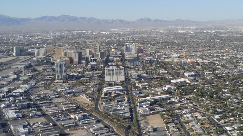 Opinião da cidade de Las Vegas imagens de stock royalty free