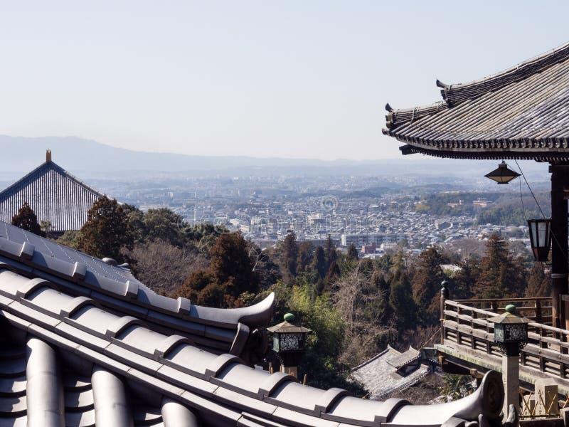 Opinião da cidade de Nara do templo de Nigatsudo imagem de stock