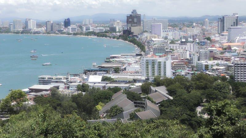 Opinião da cidade de Pattaya tailândia Condomínio de Pattaya Pattaya - praia Rpad foto de stock royalty free