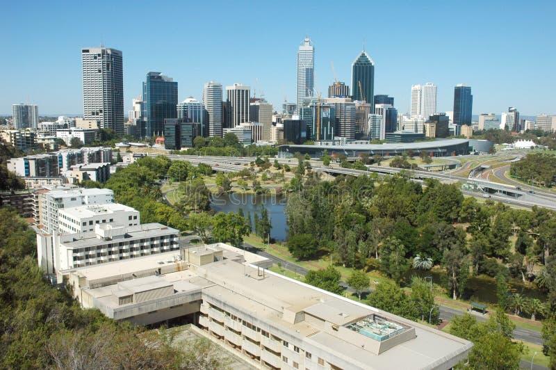 Opinião da cidade de Perth fotos de stock royalty free