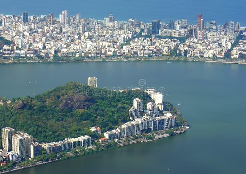 Opinião da cidade de Rio de Janeiro fotografia de stock