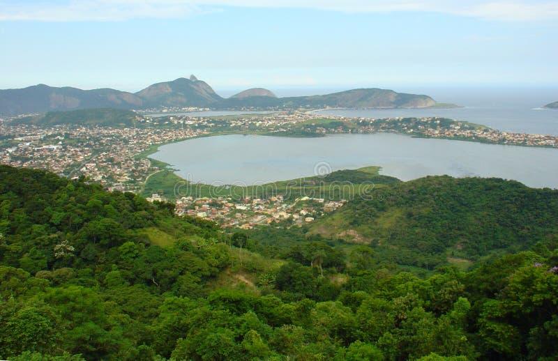 Opinião da cidade de Rio de Janeiro foto de stock royalty free