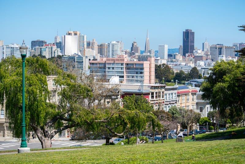 Opinião da cidade de San Francisco fotografia de stock